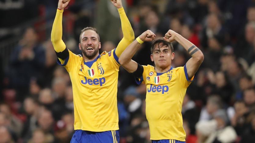 Con goles argentinos, Juventus eliminó al Tottenham en Wembley