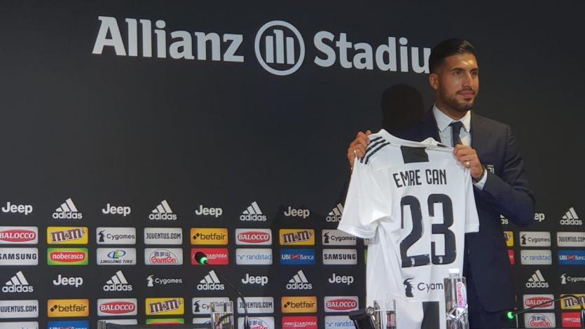 Juventus presentó a Emre Can