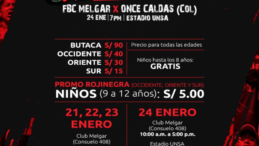 FBC Melgar anunció la venta de las entradas para la 'Noche Rojinegra'