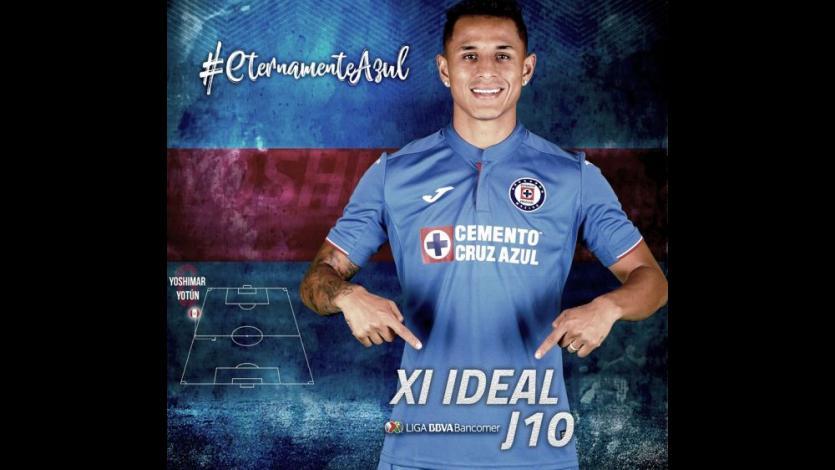 Liga MX: Yoshimar Yotun aparece en el 11 ideal de la fecha tras su golazo con Cruz Azul (VIDEO)