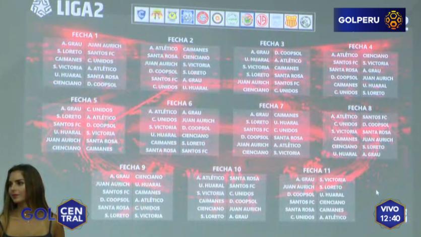 Liga2: Se reveló el fixture del campeonato