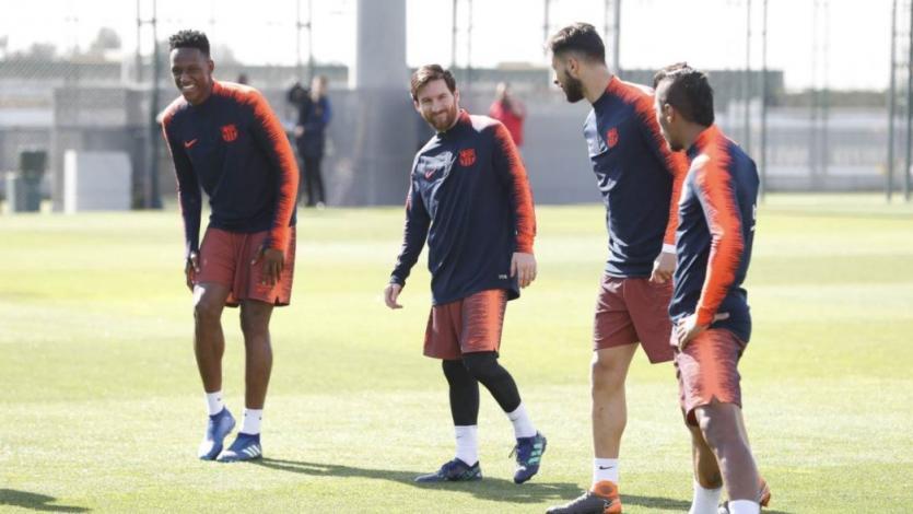 Barcelona: Messi entrenó con normalidad pensando en Sevilla