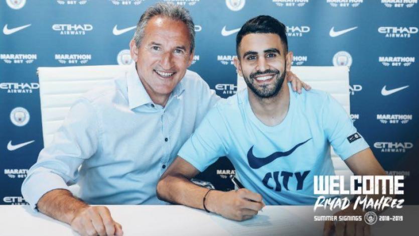 Manchester City hace oficial el fichaje de Riyad Mahrez
