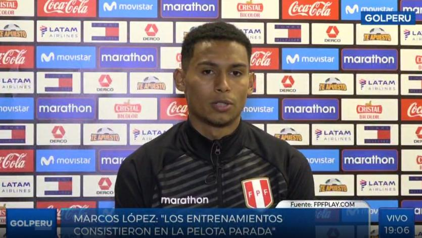 """Marcos López: """"La competencia con Miguel Trauco es sana"""" (VIDEO)"""