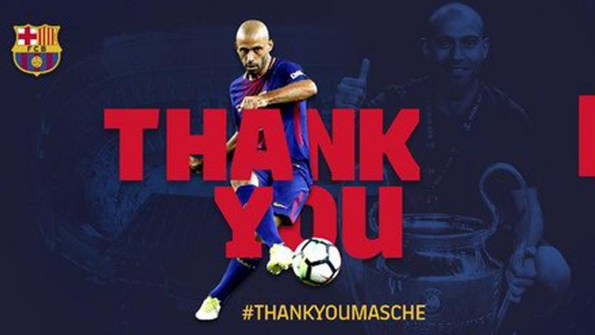 Barcelona se despide de Javier Mascherano