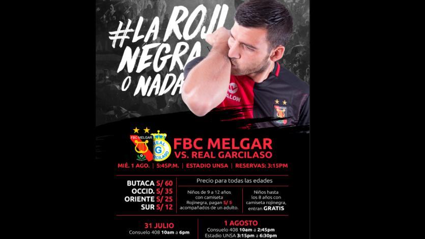 Melgar vs. Real Garcilaso: consigue tus entradas desde este martes