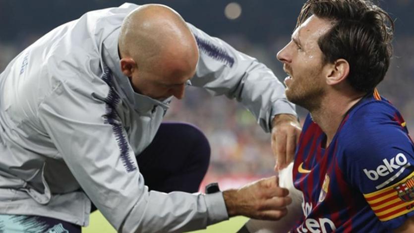 Messi se lesionó con el Barcelona y se perderá el clásico con el Real Madrid
