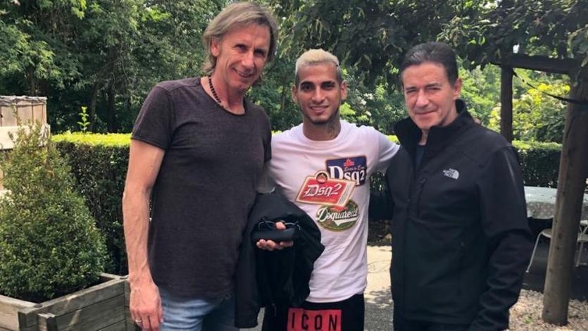 Selección Peruana: Miguel Trauco recibió visita de Ricardo Gareca y Sergio Santín en Francia