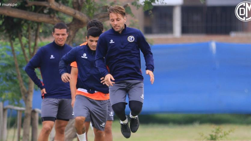 Deportivo Municipal se prepara para el amistoso ante Universitario