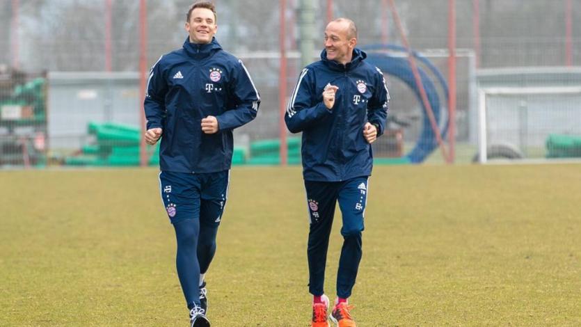 Manuel Neuer volvió a correr después de seis meses