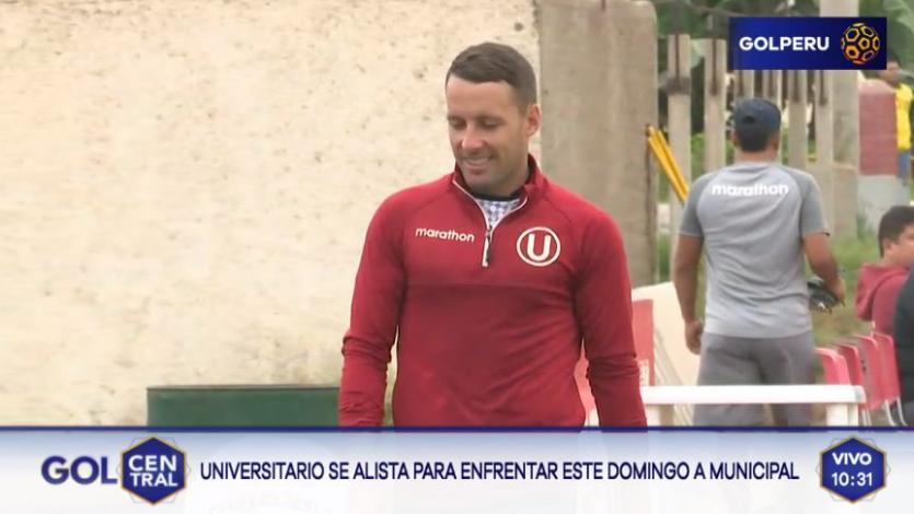 Universitario de Deportes: Pablo Lavandeira apareció en los entrenamientos