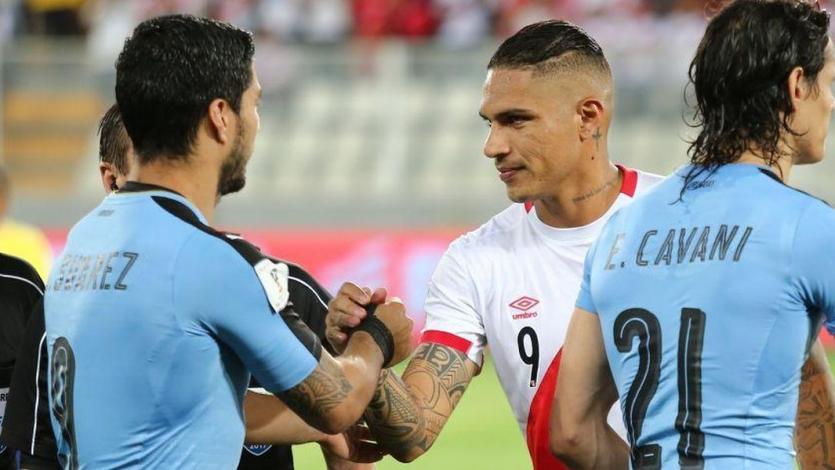 Luis Suárez y Diego Godín expresan su apoyo a Paolo Guerrero