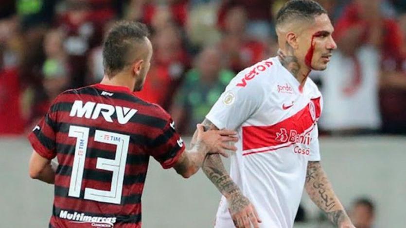 Paolo Guerrero fue denunciado por los hechos tras su expulsión en el Inter vs. Flamengo
