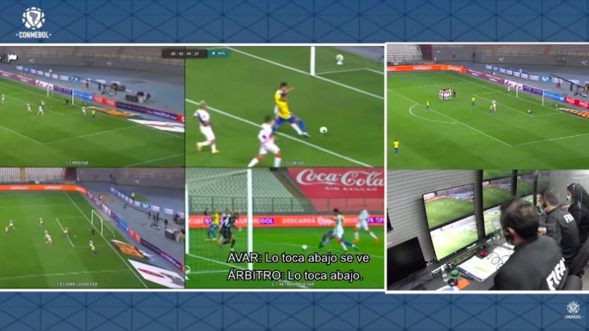 CONMEBOL publicó los audios de lo que habló el VAR con el árbitro Julio Bascuñán (VIDEO)