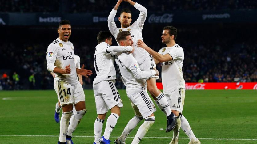 Real Madrid vence sobre la hora al Real Betis (2-1)