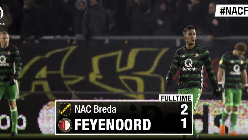 Renato Tapia fue titular en la derrota del Feyenoord
