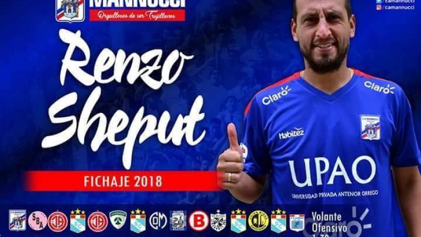 Carlos A. Mannucci oficializó a Renzo Sheput como refuerzo