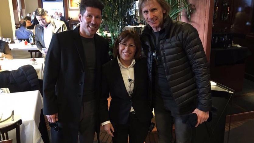 Rusia 2018: Ricardo Gareca se reunió con Diego Simeone en España