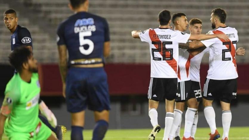 Copa Libertadores: Alianza Lima fue goleado 3-0 por River Plate pero sigue con vida (VIDEO)