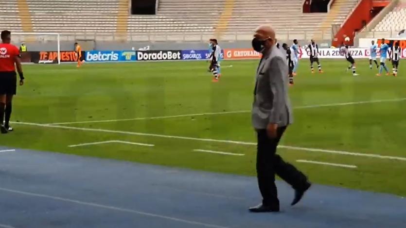 Sporting Cristal 2-1 Alianza Lima: así festejó el banquillo celeste tras el pitazo final del partido (VIDEO)