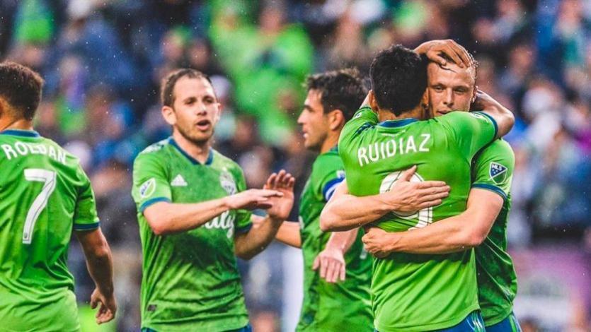 Raúl Ruidíaz disputó 15' en empate del Seattle Sounders
