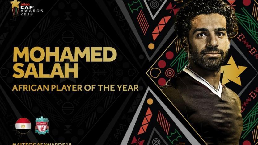 Mohamed Salah fue elegido el Mejor Jugador Africano del 2018