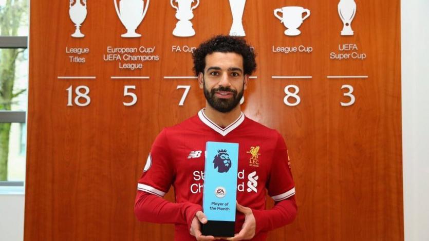 ¡Hizo historia! Mohamed Salah fue elegido jugador del mes por tercera vez