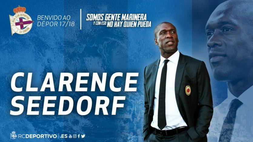 Clarence Seedorf es nuevo entrenador del Deportivo La Coruña