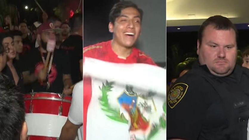 Selección Peruana: más de 200 hinchas realizaban el banderazo hasta que llegó la policía (VIDEO)