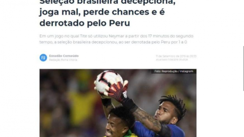 Selección Peruana: las portadas en Brasil tras el gran triunfo de la blanquirroja (FOTOS)
