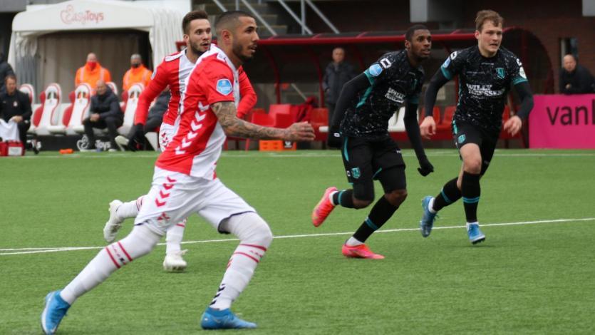 Sergio Peña dio una asistencia y anotó en el triunfo de FC Emmen en la Eredivisie (VIDEO)