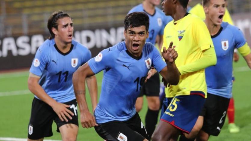 Sudamericano Sub-17: Uruguay goleó a Ecuador y trepó al tercer lugar del Hexagonal