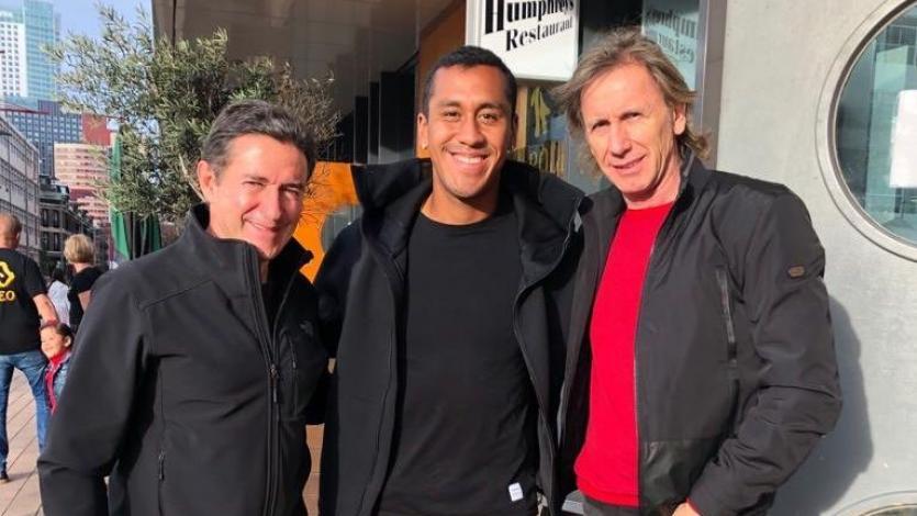 Selección Peruana: Renato Tapia recibió la visita de Ricardo Gareca