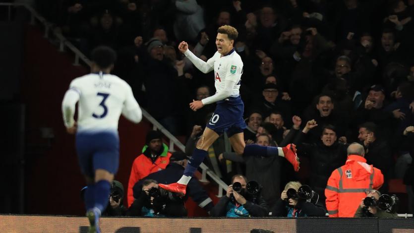 Tottenham eliminó al Arsenal de la Copa de la Liga (2-0)