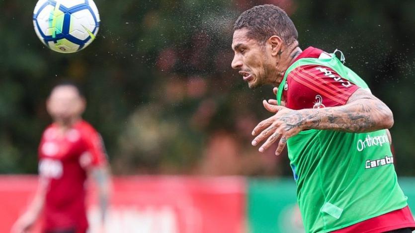 Paolo Guerrero y Miguel Trauco tuvieron minutos con Flamengo en amistoso