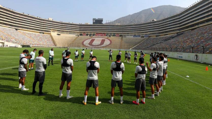 Universitario: Alex Valera se lució con un hat trick en el partido de práctica en el Monumental