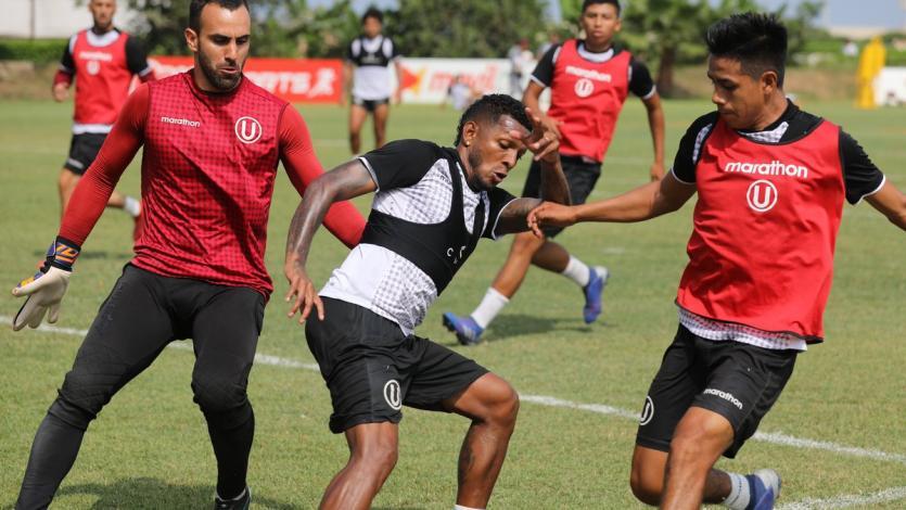 Universitario de Deportes sigue entrenando para  el partido ante Carlos A. Mannucci