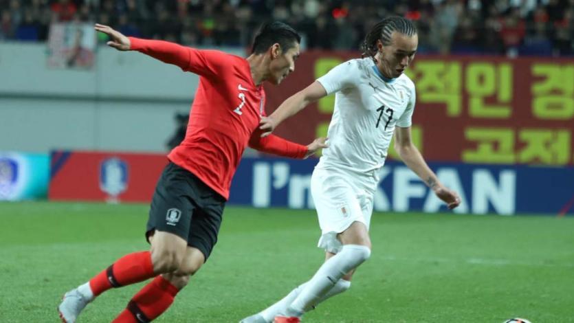 Corea del Sur sorprendió y derrotó 2-1 a Uruguay en amistoso