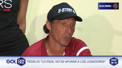 """Pedro Troglio: """"La intención era ver a los jóvenes"""""""