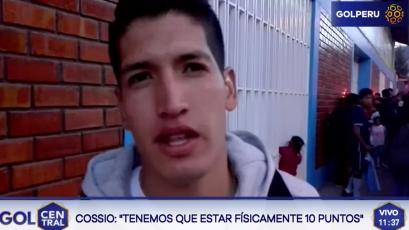 """Alexis Cossio: """"Tenemos que estar físicamente 10 puntos"""""""