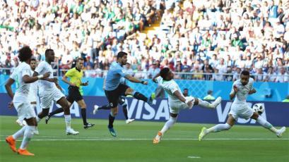 Rusia 2018: Uruguay eliminó a Arabia Saudita y se clasificó a octavos de final