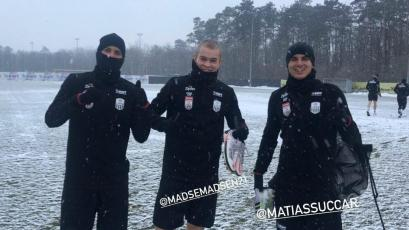 Matías Succar entrenó bajo la nieve con el Lask Linz y se alista para su debut oficial