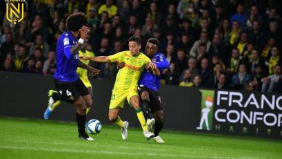 Con Cristian Benavente, Nantes superó por la mínima al Niza