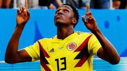 Yerry Mina fue elegido la figura en el triunfo de Colombia ante Senegal