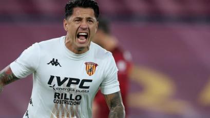 Gianluca Lapadula anotó en la derrota del Benevento ante Hellas Verona