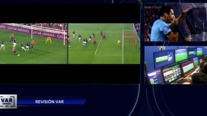 Copa Sudamericana: Diego Haro recurrió al VAR y anuló el gol de Independiente (VIDEO)