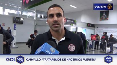 """José Carvallo: """"Queremos pelear el Torneo Apertura"""""""