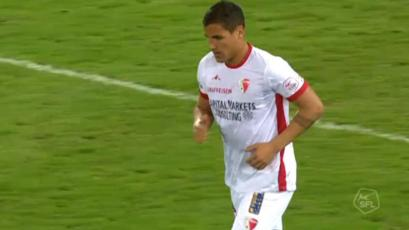 Alexander Succar vio acción en el empate del Sion