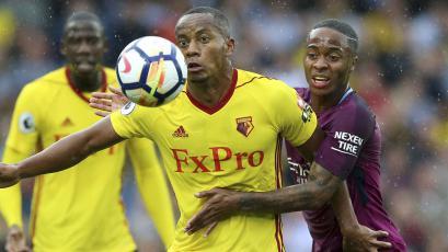 Watford, con Carrillo todo el partido, cayó goleado ante Manchester City (6-0)