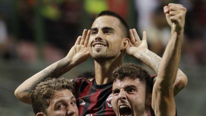 Suso le dio la victoria al Milán con un gran tiro libre